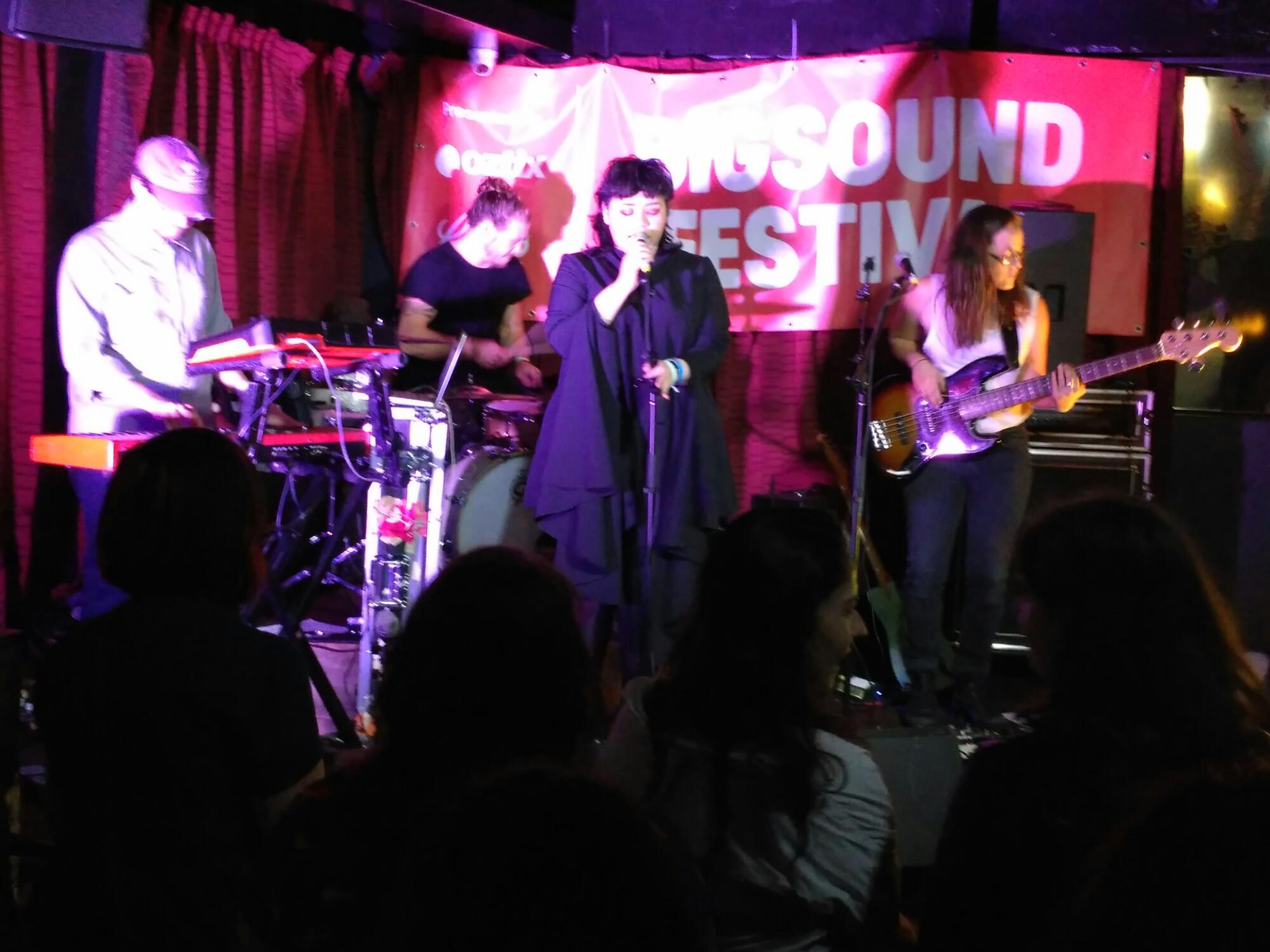 Kira Puru and her three bandmates